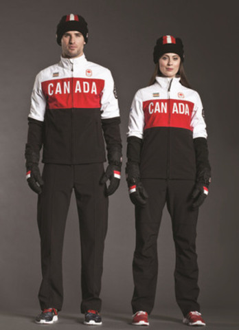 Canadian Olympic Team Athletes Stand Proud in Exclusive Podium Jacket Created by Hudson's Bay (CNW Group/Hudson's Bay Company)