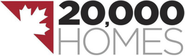 20,000 Homes  (CNW Group/Canadian Alliance to End Homelessness)