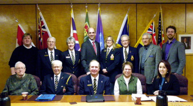 The Honourable Steven Blaney, Minister of Veterans Affairs meets with members of The Royal Canadian Legion and other Veterans' organizations in Regina, Saskatchewan. (CNW Group/Veterans Affairs Canada)