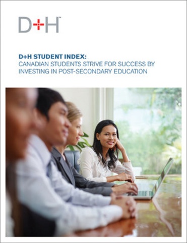 Today D+H released the third installment of the D+H Student Index: Canadian Students Strive for Success by Investing in Post-secondary Education. It is available at http://dhltd.com/wp-content/uploads/dh-student-index3/ (CNW Group/DH Corporation)