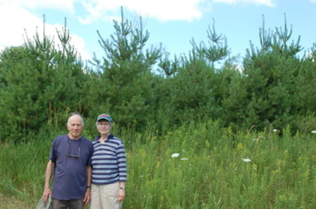 Forests Ontario Green Leaders Maury and Meg Breslow on their property in Seeley's Bay, Ontario that was ...
