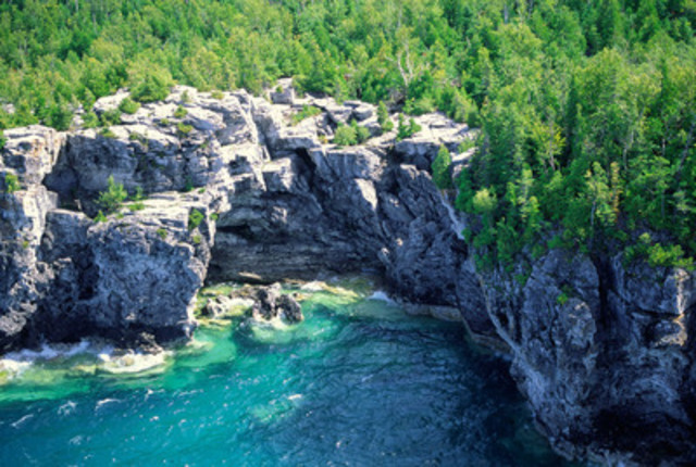 Parc national de la Péninsule-Bruce (Groupe CNW/Parcs Canada (Unité de gestion de la baie Georgienne et de l'Est de l'Ontario))