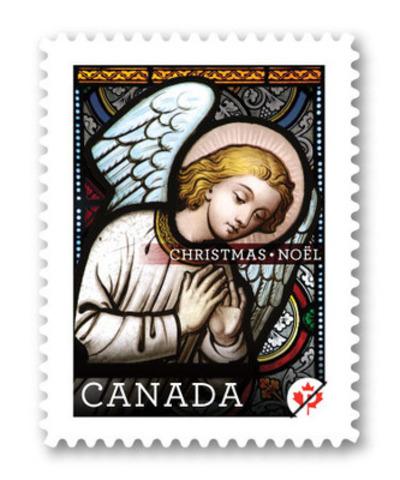 Postes Canada illumine sa série des Fêtes par des timbres consacrés à des vitraux vieux de 150 ans (Groupe CNW/Postes Canada)