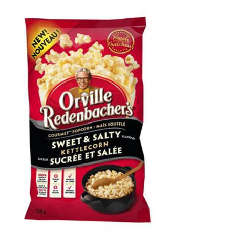 Nouveau maïs soufflé gourmet prêt à manger d'Orville Redenbacher, saveur sucrée et salée (Groupe CNW/ConAgra Foods, Inc.)