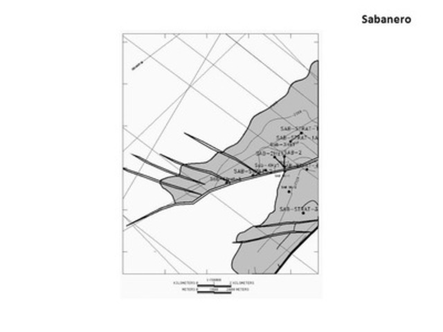 Sabanero Block Exploration Map (CNW Group/Pacific Rubiales Energy Corp.)