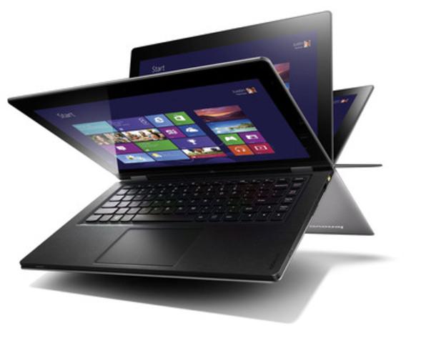 Le IdeaPad Yoga de Lenovo redéfinit le concept d'informatique mobile avec un Ultrabook multimode qui est synonyme de souplesse et de choix. (Groupe CNW/Staples Canada/Bureau en Gros)