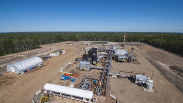 Nsolv's pilot project in Fort McKay, Alberta, seen here, has produced its 100,000th barrel of oil using solvent-based heavy oil extraction technology. (CNW Group/Nsolv)