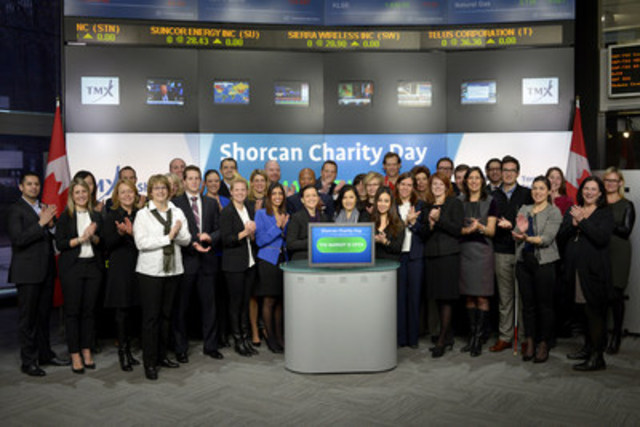 Peter Conroy, President, Shorcan Brokers Limited will open the market in celebration of Shorcan Brokers Ltd. 18th Annual Charity Day. On January 21, 2016 Shorcan will donate 100% of the day's revenue to over 20 designated charities. Since 1999, Shorcan has donated over $6,000,000 to various charities and organizations. Shorcan Brokers Ltd. is a subsidiary of TMX Group. For more information about Shorcan please visit http://www.shorcan.com/ (CNW Group/TMX Group Limited)