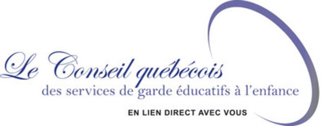 Le Conseil québécois des services de garde éducatifs à l'enfance (CQSGEE) (Groupe CNW/Conseil québécois des services de garde éducatifs à l'enfance (CQSGEE))
