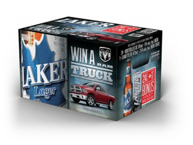 Laker Lager Summer RAM 4x4 Sweepstakes (CNW Group/Brick Brewing Co. Limited)