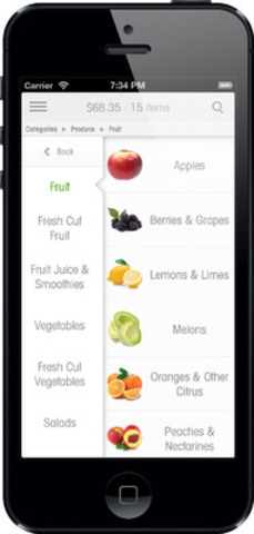 The new grocery gateway mobile application (CNW Group/Unata)