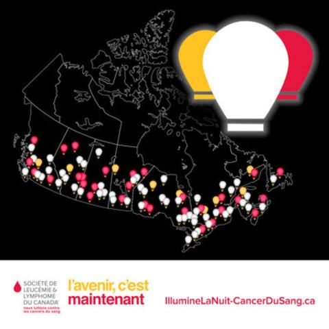 La Société de leucémie et lymphome du Canada lance la campagne Lumière d'espoir pour recueillir 100 000 $ en appui aux 100 000+ personnes touchées par les cancers du sang au Canada (Groupe CNW/La Société de leucémie et lymphome du Canada)
