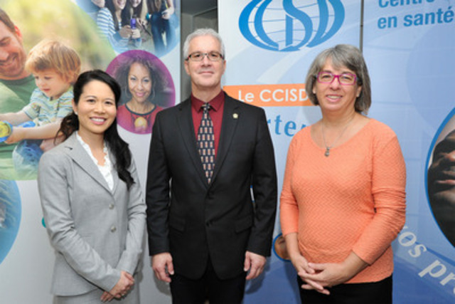 Jennifer Chan, Vice-President, Communications and Policy, Merck Canada; Robert Beaudry, Executive Director, CCISD and Martine Bernier, Project Director of the PRISMA program in Haiti. (CNW Group/MERCK)