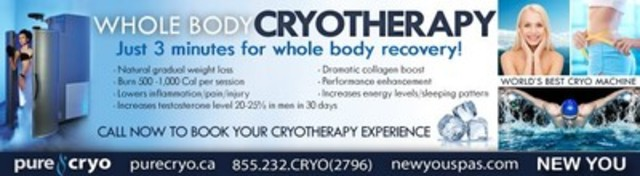 Cryotherapy (CNW Group/New You Spas)