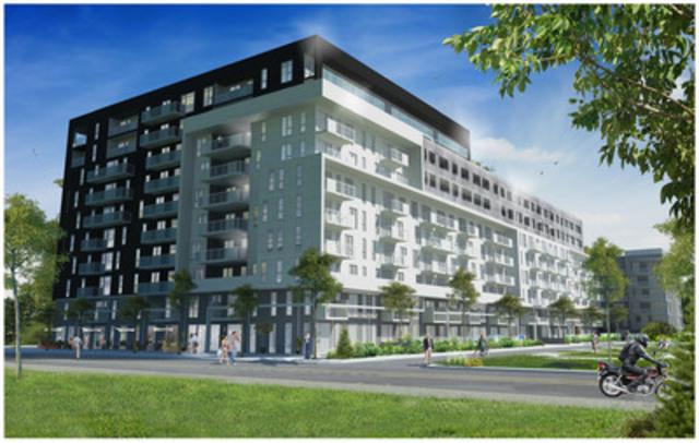 Mùv Condos : Groupe Marchand design architecture et lupien + matteau inc.  (Groupe CNW/Fonds immobilier de solidarité FTQ)