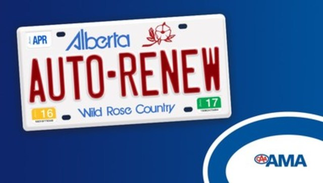 AMA's Vehicle Registration Auto-Renew does all the remembering for you (CNW Group/Alberta Motor Association (AMA))