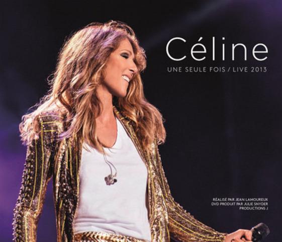 'Céline une seule fois/Live 2013' - Céline Dion artwork. (CNW Group/Sony Music Entertainment Canada Inc.)