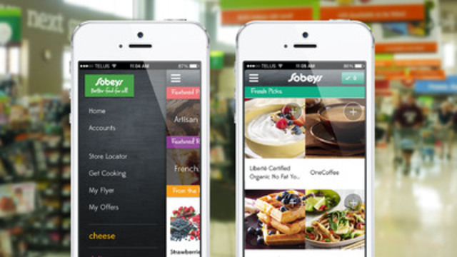 Sobeys unveiled today its new mobile app designed to help busy Canadians access Better Food on the go. (CNW Group/SOBEYS INC.)
