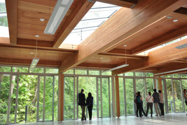 North Shore Credit Union Environmental Learning Centre: a showcase for wood innovation (CNW Group/Canadian Wood Council for Wood WORKS! BC)