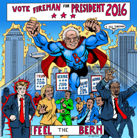 Americans Socially United #VOTEFIREMAN2016 #BETONBERNIE (CNW Group/Politician Watch Association)