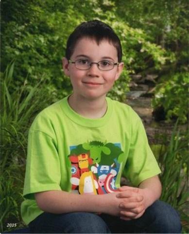 John Latosinsky, élève de 6e année de London, en Ontario, et gagnant du concours « Le sens d'un chez-soi » de Genworth Canada (Groupe CNW/Genworth Canada)