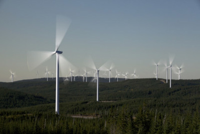 Parc Éolien Rivière-du-Moulin, 2015 (Groupe CNW/Senvion Canada Inc.)