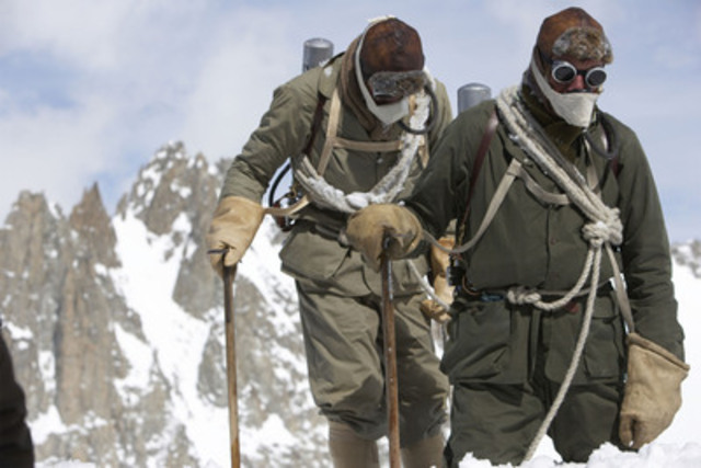 The Wildest Dream: The Conquest of Everest - Conrad Anker and Leo Houlding on Everest in 1920s climbing gear. © Altitude Films Ltd. (CNW Group/TVO)