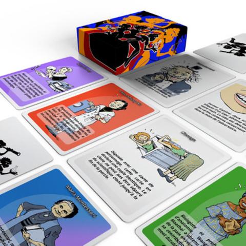 « Femmes de Science » est un jeu de cartes coloré et amusant qui permet de se familiariser avec les grandes scientifiques. Le jeu peut être précommandé dès maintenant via le portail de sociofinancement IndieGogo. (Groupe CNW/Sur-la-Toile.com)
