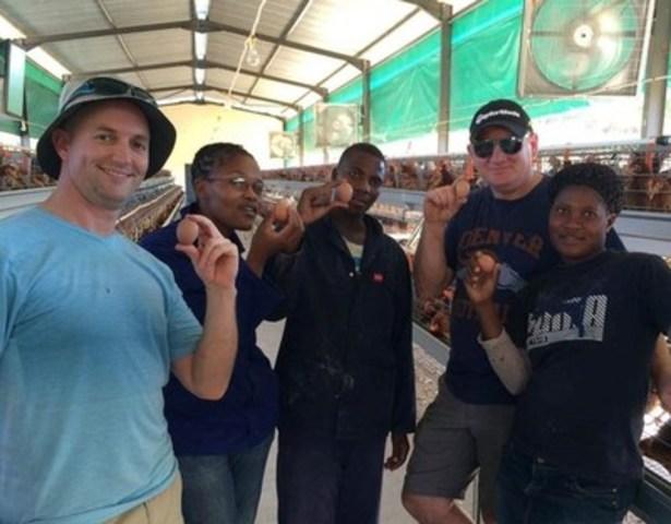 L'installation ovocole nouvellement construite a accueilli son premier troupeau de poulettes ce mois-ci. Les poulaillers produiront des milliers d'œufs nutritifs pour les enfants orphelins du Swaziland. (Groupe CNW/Egg Farmers of Canada)