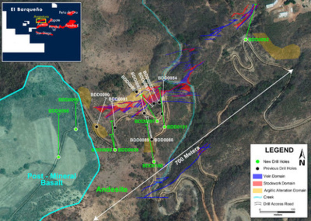 Figure 1 - Angostura Drill Results Map (CNW Group/Cayden Resources Inc.)