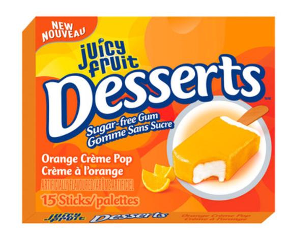 Paquet simple Desserts de Juicy Fruit: Crème à l'orange. (Groupe CNW/Wrigley Canada)