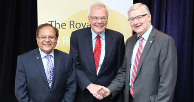 Dr. Zul Merali, President and CEO, The Royal's Institute of Mental Health Research, Dr. Chris Carruthers Chair of the Mach-Gaensslen Foundation of Canada and George Weber, President and CEO, The Royal. (CNW Group/The Royal)