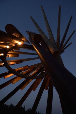 Winnipeg Folk Fest Village Tower - Image courtesy of Robert Tinker (CNW Group/Wood WORKS! Alberta)
