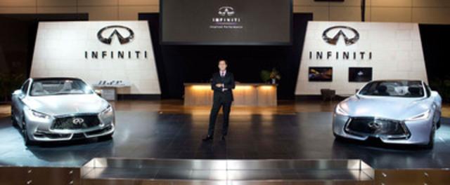 Le directeur général du design d'Infiniti Motor Company, Alfonso Albaisa, présente la future orientation conceptuelle de la marque avec le dévoilement de la Q80 Inspiration et du Q60 Concept au Salon international de l''auto du Canada 2015 à Toronto. (Groupe CNW/Infiniti)