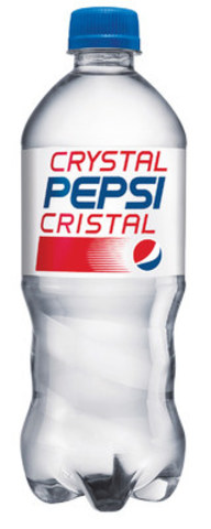 Crystal Pepsi(R) - the iconic '90s clear cola - will be available for a limited time across Canada beginning July 11. (CNW Group/PepsiCo Canada)