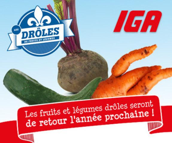 Le bilan des drôles de fruits et légumes du Québec chez IGA (Groupe CNW/IGA)