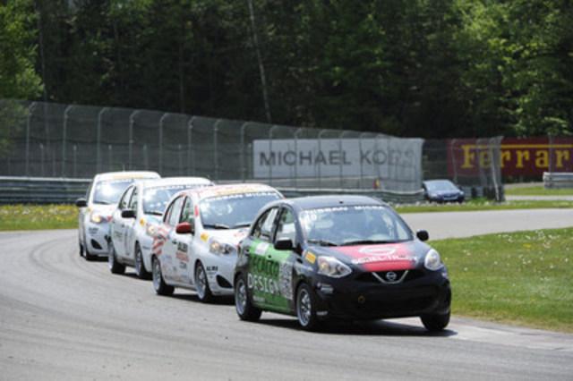 Kevin King remporte la deuxième course du week-end. (Groupe CNW/Nissan Canada Inc.)