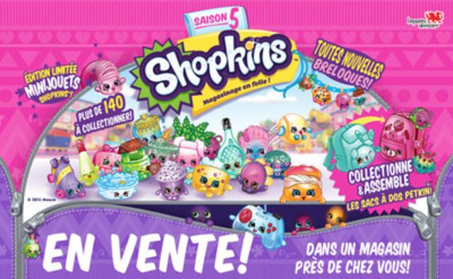 C'est la folie du magasinage avec la nouvelle saison 5 des Shopkins. En vente dans un magasin près de chez vous ! (Groupe CNW/Imports Dragon)