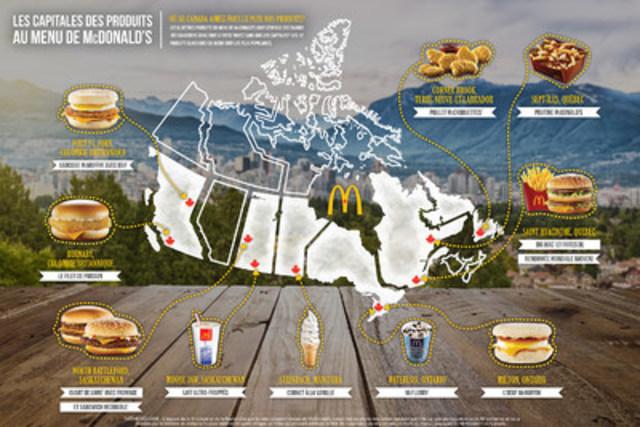Les capitales des produits au menu de McDonald's : où au Canada aimez-vous le plus nos produits? (Groupe CNW/McDonald's Canada)