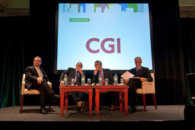 The speakers featured at the 2013 Montréal FinTech Conference drew considerable interest from conference delegates. (CNW Group/Finance Montréal)