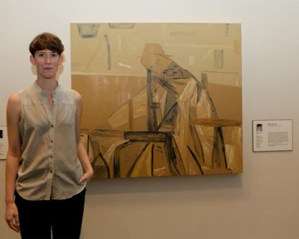 Rebecca Brewer, de Vancouver, est la lauréate nationale du Concours de peintures canadiennes de RBC 2011, pour son œuvre Beuys painting. (Groupe CNW/Canadian Art Foundation)