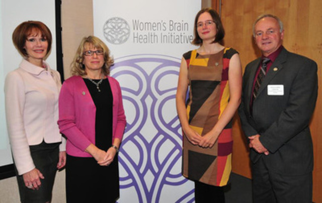 Pictured from left to right are: Lynn Posluns Founder and President, Women's Brain Health Initiative, Paula Gallagher Consulting Partner, Deloitte, Dr. Melissa K. Andrew Geriatrician, Dalhousie University, The Honourable Leo Glavine, Minister of Health and Wellness and Minister of Seniors. (CNW Group/Women's Brain Health Initiative (WBHI))