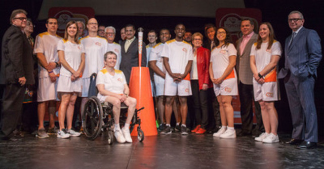 Today, TO2015 and its relay partners announced the first 10 torchbearers, and unveiled the torch and torchbearer uniform. (CNW Group/Toronto 2015 Pan/Parapan American Games)