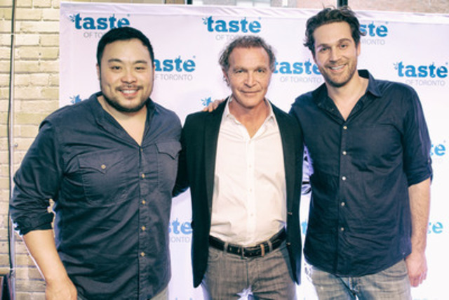 Taste of Toronto featured chefs David Chang (Momofuku), Mark McEwan (The McEwan Group) and Cory Vitiello (The Harbord Room and THR&Co.) at the April 29 launch party. (Photo Credit: Ryan Emberley) (CNW Group/Taste of Toronto)