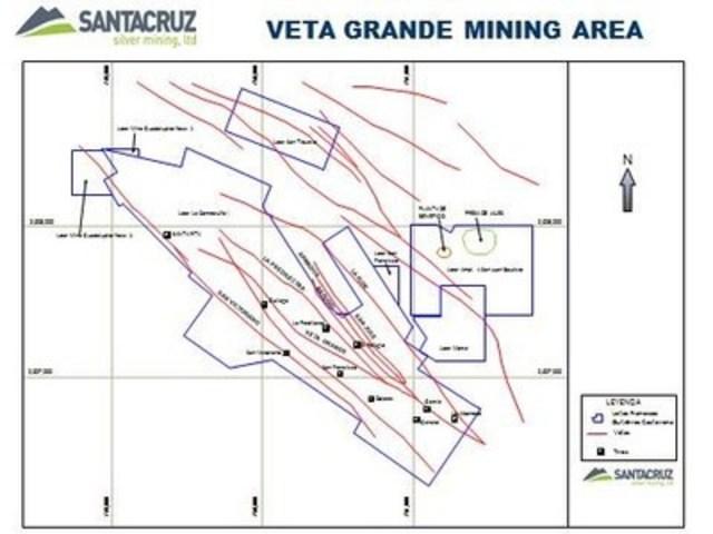 Veta Grande Mining Area (CNW Group/SantaCruz Silver Mining Ltd.)