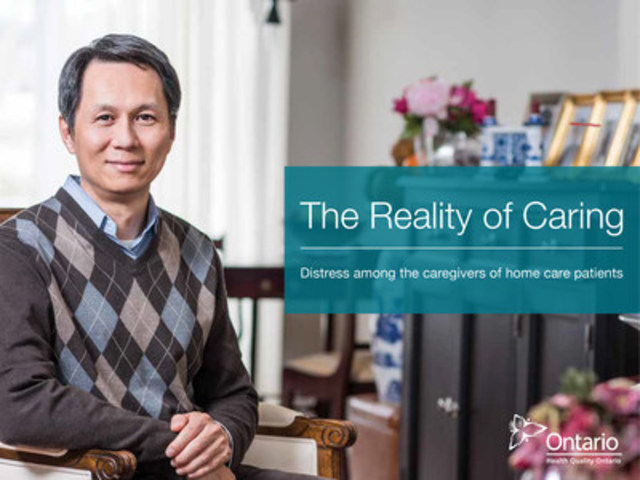 Read the latest report from Health Quality Ontario, The Reality of Caring, that examines the growth of caregiver distress experienced by family, friends and neighbours looking after home care patients in Ontario. (CNW Group/Health Quality Ontario)