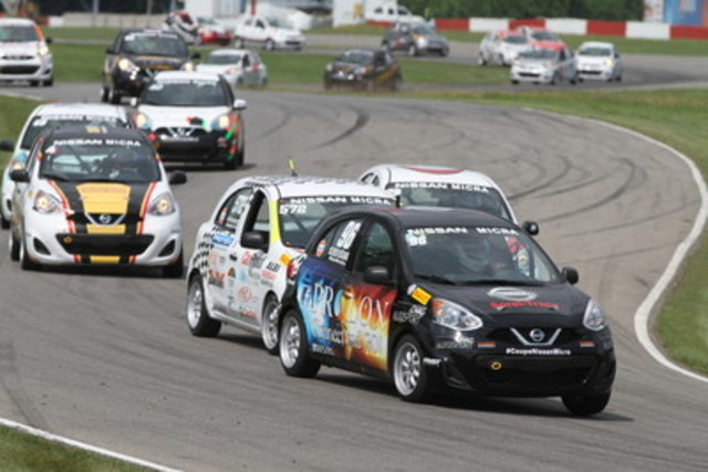 Olivier Bédard a inscrit ses quatrième et cinquième victoires de la saison. (Groupe CNW/Nissan Canada Inc.)