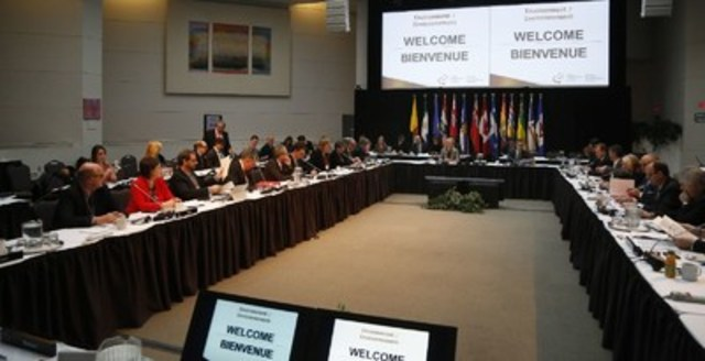 Environment ministers working together on first steps towards a pan-Canadian framework to address climate change. (CNW Group/Environment and Climate Change Canada)