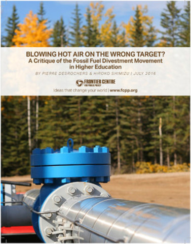Critique of the Fossil Fuel Divestment Movement. (CNW Group/Frontier Centre for Public Policy)