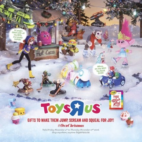 """TOYS""""R""""Us®, Canada's 2016 Hot Toy List Makes Gift Giving easy (CNW Group/Toys """"R"""" Us (Canada) Ltd.)"""